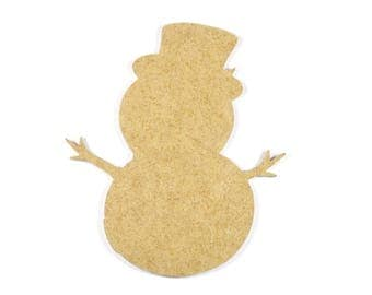 Wooden snowman - A paint or decorate
