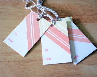 Stripey Gift Tags
