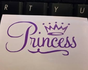 Princess Crown yeti decal, RTIC decal, window decal, Wine Glass decal, Laptop decal, vinyl decal