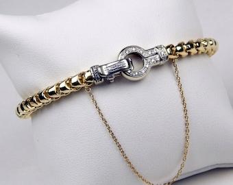 14k Gold diamond bracelet #10070
