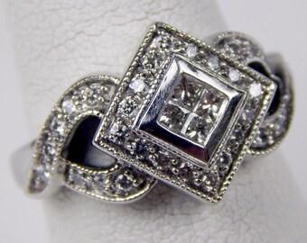 BITA 14k white gold  diamond ring #10291