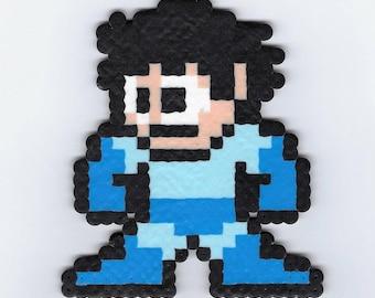Helmetless Mega Man Perler (Mega Man)