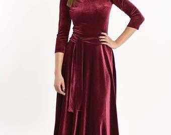 Long formal dress AMANDA burgund