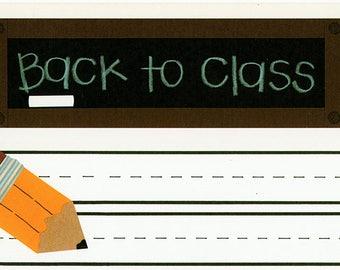 Back To Class School Title Over-alls Page Topper 6x12 Title Scrapbooking Scrapbooks Ek Success Embellishments Cardmaking Crafts
