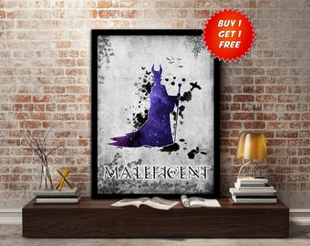 Maleficent, poster,print,Disney, Fairytale, Evil, Witch, Dark, Villain, wall, art, gift for her, gift, gift for him, kids,Birthday
