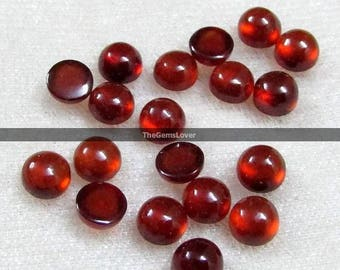 10 pieces 3mm Hessonite Garnet round cabochon gemstone AAA+ quality Natural Hessonite Garnet cabochon round loose gemstone