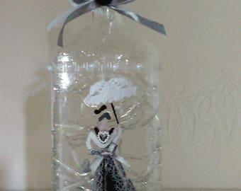 """Arlésienne"" bottle lamp"