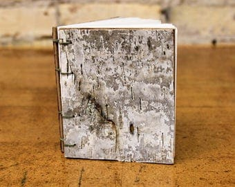 Small Blank Sketchbook with Birch Bark Cover
