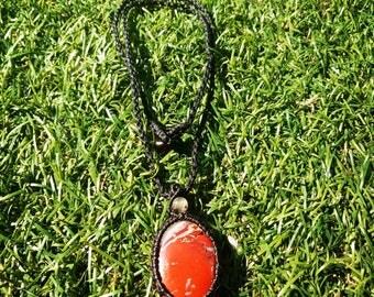 Macrame necklace Jasper