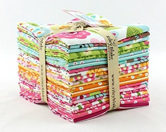 Free Shipping!!! Summer Song 2 - Fat Quarter Bundle by Zoe Pearn for Riley Blake - 21  Fat Quarters - 100% Cotton - Fat Quarter Bundle