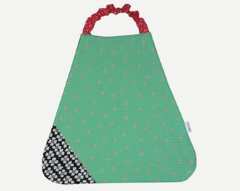 Bib elasticated Terry and cotton stars flowers dots