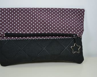 Clutch purple points small bag
