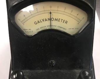 Vintage Galvanometer - great antique science piece!  WELCH SCIENTIFIC  1960's