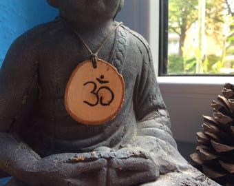 Necklace, handmade, wood, boho, hippie