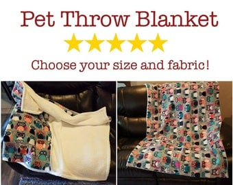 SALE! 20% off! Throw blanket for dogs, cats, and other pets! Couch Protector, Seat Protector