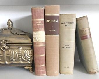 Brown Vintage Decorative Books