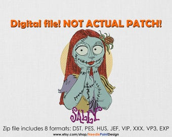 Sally machine embroidery design. The Nightmare Before Christmas. Sally embroidery. Embroidery file