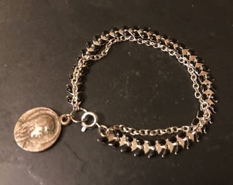 Bracelet double chain and vintage
