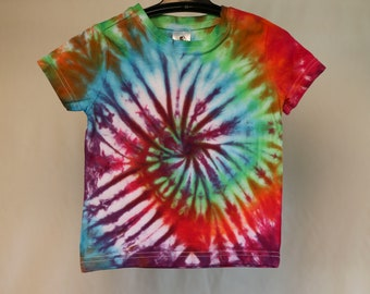 Size 1 - Ready To Ship - Unisex - Children - Kids - Tie Dyed T-shirt - Tee's - 100% Cotton - FREE SHIPPING within Aus