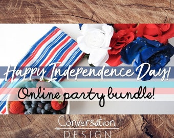 Independence Day, Fourth of July, Online Party, Facebook Party, Graphics, Bundle, Shopping, Event