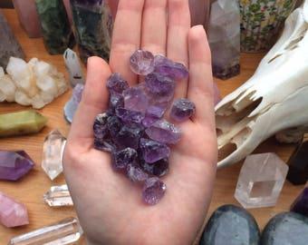 Raw Purple Amethyst Crystal Chunk Bundle