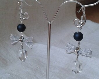 """""""silver plated wire knot"""" earrings"""