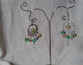 multicolored Zebra beads earrings
