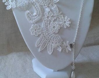 """necklace """"large white lace Wall lamp"""""""