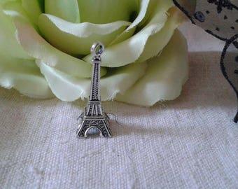 set of 5 Silver 3D Eiffel Tower