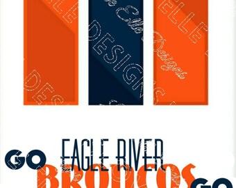 Eagle River Broncos Floating Frame