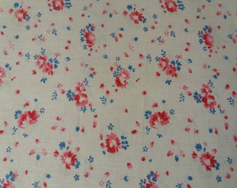 Lovely old fabric, small flowers project