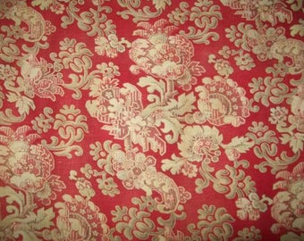 A vintage fabric floral late 19 th