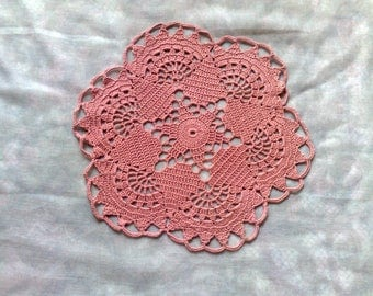 Round pink doily for decoration and home decor
