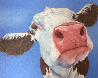 "hereford cow painting ""Agatha"""