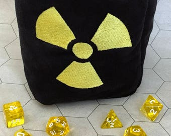 Radiation Symbol Tabletop Drawstring Gaming Dice Bag Pouch Dungeons and Dragons Dnd Role-Playing Board Game Miniatures Polyhedral Dice Rpg