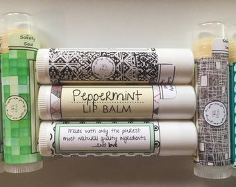 Peppermint Essential Oil Lip Balm
