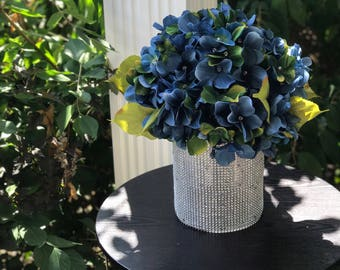 Blue-and-green Hydrangeas centerpiece perfect for any room