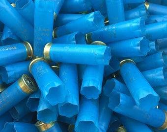 Empty Shotgun Shells Light Blue Hulls Once Fired 12 Gauge Cartridges Ammo Casings Shotshells Spent Over 400 Pieces for Crafting