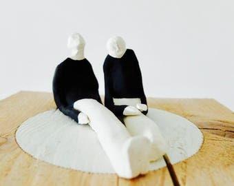 "sculpture, contemporary art, figurative art, ornament, ""Waiting"""