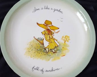 "VINTAGE -  Holly Hobbie - ""Love is Like a Garden..Full of Sunshine"" - Decorative Collector's Plate"