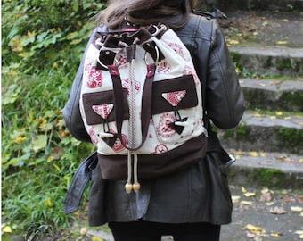 Backpack, shoulder bag, handbag, allround bag, country house style