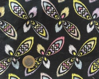 Black patchwork BURST ROWAN FABRICS V & A PWVA023 IKAT fabric