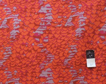 Red patchwork fabric Brandon Mably schell scape BM14