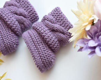 Baby boots, Knitted baby booties,Baby boy or girl booties,Hand Knit Baby Booties