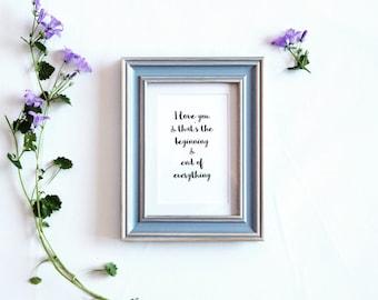 Adoption Print / new born print / Adoption Quote / Nursery Print / Family / adoption cards / wedding present / engagement gift / love quote