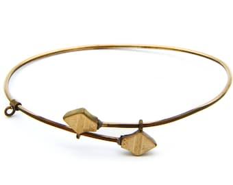 Rose Gold Filled Bracelet, Bypass Bracelet, Expansion Bangle Bracelet, Antique 1800s Victorian Jewelry, Dainty Bracelet, Wedding Bracelet
