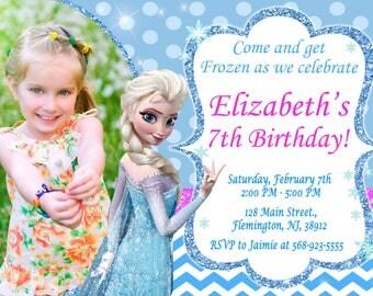 Frozen Invitation Frozen Birthday Party Frozen Printable