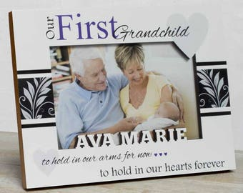 Personalized Baby Picture Frame, First Grandchild Frame, Grandparents Picture Frame, Granddaughter Frame, Grandson Frame, Grandparents Frame