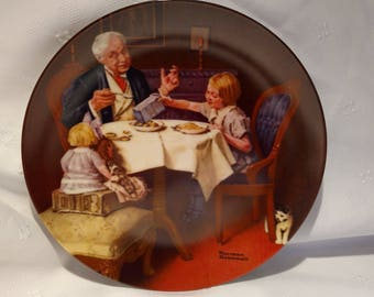 1985 The Gourmet by Norman Rockwell Rockwell Heritage Collection Collector Plate with COA #6262R