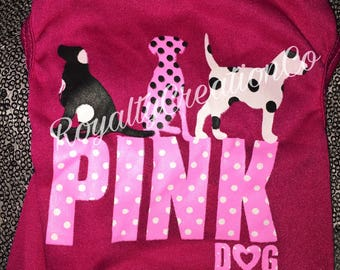 VS PINK Inspired Puppy Shirt